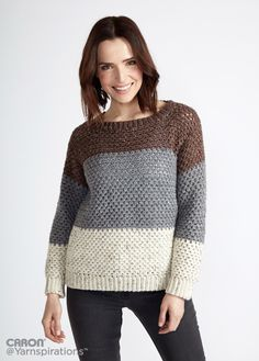 Stepping Stones Crochet Pullover