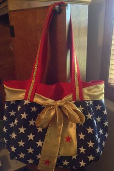 Wonder Woman Inspired Purse/ ToteBag by TheFrenchBirdie on Etsy, $65.00