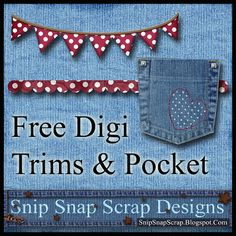 Free Denim Pocket Digi Scrapbook Elements Pack 1 ***Join 1,760 people. Follow our Free Digital Scrapbook Board. New Freebies every day.