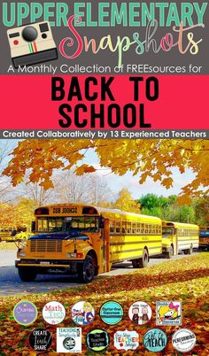 This Back to School ebook is loaded with tips, tricks and freebies, created by the teachers at Upper Elementary Snapshots. Perfect for any teacher focusing on starting the year off right! Happy Back to School!