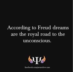 According to Freud dreams are the royal road to the unconscious. Sigmund Freud believes that we have an unconscious mind represented by our repressed feelings and desires. Through psychoanalysis and dream interpretation, he is able to recover and understand these feelings and desires in patient. Hence, he calls dreams the royal road to the unconscious. For more details on the facts, you can visit my YouTube Channel where I like and talk about awesome psych videos I find.