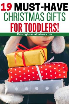 Stumped on what toys to get a toddler that they'll actually use and love? This ultimate holiday gift guide for toddlers will help you find the perfect Christmas present for them! Toddler Christmas Gifts, Christmas Gift Guide, Toddler Gifts, Christmas Love, Toddler Toys, Holiday Gifts, Kids Toys, Baby Toys, Holiday Fun