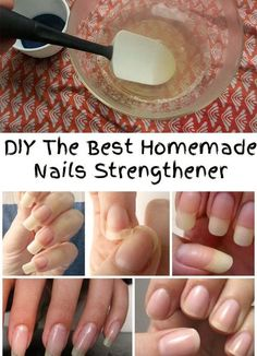 If you have thin and brittle nails, or you have problems with chewing your nails, it's time to use a natural homemade nails strengthener!