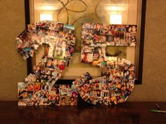 A 25 picture collage for the boyfriends 25th birthday