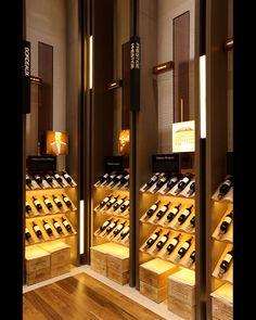 - Association for Retail Environments Wine Shop Interior, Wine Cellar Racks, Liquor Shop, Home Wine Cellars, Wine Cellar Design, Wine Display, Wine Wall, Wine Cabinets, Tasting Room