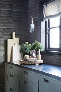 Shop Original BTC Lighting @ Olson and Baker Over Sink Lighting, Kitchen Lighting, Btc Lighting, Scandinavian Cabin, Davey Lighting, Modern Log Cabins, Cabin Interiors, Glass Pendant Light, Log Homes
