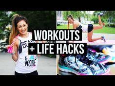 Motivation & Workout Life Hacks + Summer Exercise Routine! | LaurDIY - YouTube