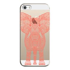 iPhone 6 Plus/6/5/5s/5c Case - AZTEC ELEPHANT CORAL Crystal Clear Case (45 CAD) ❤ liked on Polyvore
