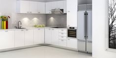 3D Architectural Rendering Of Kitchens.