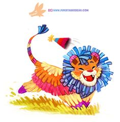 Daily Paint 1292. Party Animal by...
