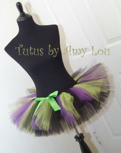 Halloween Witch Costume Race Running Tutu by ContagiousJoyBoutiqu