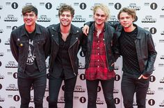 Calum Hood Luke Hemmings Michael Clifford and Ashton Irwin of 5 Seconds of Summer attend BBC Radio 1's Teen Awards at SSE Arena Wembley on November 8...