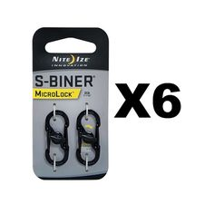 Nite Ize S-Biner MicroLock - Black (6-Pack)