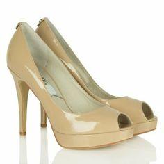 Michael Kors York Platform Nude Patent Women's Court Shoe.
