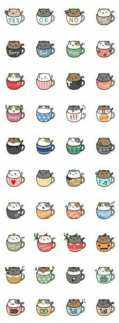 Neko cat kitty coffee mug tea mug kawaii Nian café ❤ melhor lugar Chat Kawaii, Arte Do Kawaii, Kawaii Cat, Kawaii Stuff, Kawaii Things To Draw, Kawaii Names, Kawaii Chibi, Crazy Cats, Cat Art