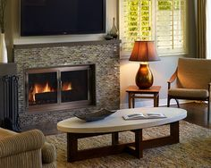 Glass Tile Fireplaces Design, Pictures, Remodel, Decor And Ideas   Page 5