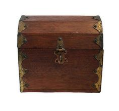 Pirate Treasure Chest Wood Treasure Chest by HeidisTreasureChest