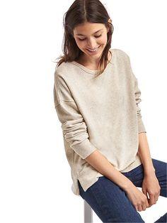 gap slouchy sweatshirt