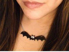 Polymer Clay Bat Necklace