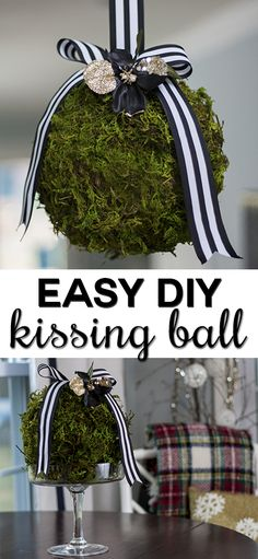 Can't wait to make these DIY kissing balls! They're so simple and beautiful!