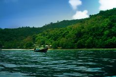Welcome to paradise - Taken near Phi Phi Island, Thailand. We were on the longtail boat, going towards its main town.