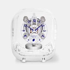 """Marc Newson is known for his curvy, organic, minimal designs. Yet the Jaeger-LeCoultre x Marc Newson Atmos 568 Clock might be his most minimal yet. By encasing the clock's mechanics inside an """"extra-clear"""" glass cabinet, he allows the moving lungs,. Baccarat Crystal, Desk Clock, Alarm Clock, Dry Goods, Dream Decor, Minimal Design, Luxury Watches, Science And Technology, Gears"""