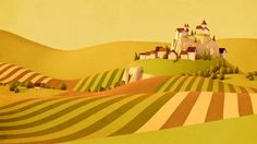 environment, yellow, town, landscape, setting, hills, forrest, game, bg, illustration, fields, farms