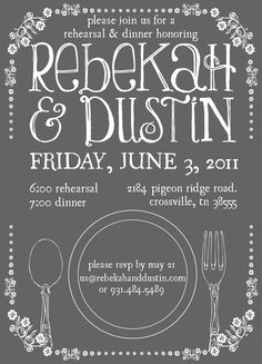 cute rehearsal dinner invitation!