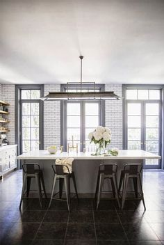 grey + white kitchen