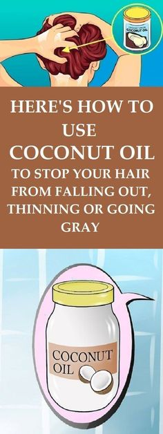 How To Put Coconut Oil In Your Hair To Stop It From Going Gray Early, Thinning Or Falling Out - TIMES HEALTH Magazine #coconutoil #hairloss #hairgrowth #beautytips