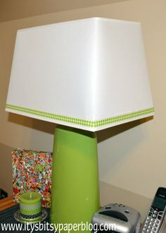 Itsy Bitsy Paper: . . . Washi Tape Lamp Shade . . .