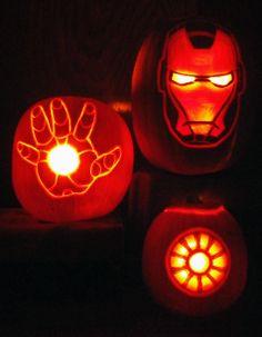 Iron Man pumpkins