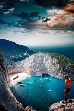 Navagio Beach, Zakynthos, Greece >>> I die. Wow.