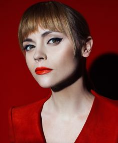Christina Ricci in all red looks for S Moda magazine February 2016