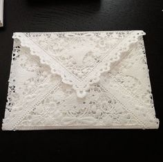 How to make lace envelopes