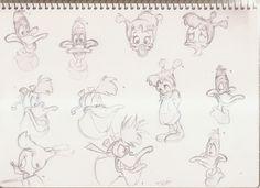Darkwing Duck sketches by Beejeezers