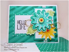 Crafty and Creative Ideas: Flower Patch Hello Life Card