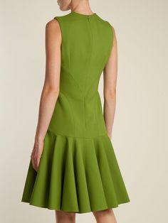 V-neck wool-blend sleeveless dress | Alexander McQueen | MATCHESFASHION.COM US