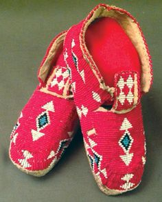 Lot: Cheyenne Beaded Moccasins, Lot Number: 0215, Starting Bid: $100, Auctioneer: Allard Auctions Inc., Auction: Native American Art&Artifacts-Mar 2017-Ses. 1, Date: March 11th, 2017 CST
