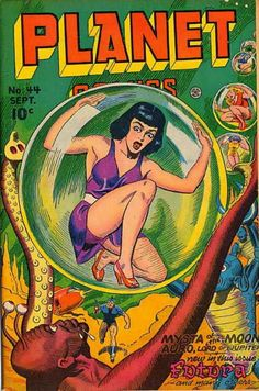 COMIC planet comics 44 #comic #cover #art