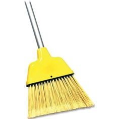 """Genuine Joe 9"""" Angle Broom, Yellow 9.00 x 1.30 x 9.80 Inches -- Awesome products selected by Anna Churchill"""