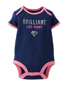 Cute Carter's Baby Girls' Slogan Bodysuit – Baby Girls Bodysuit