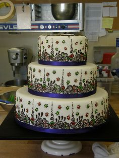 Indian inspired wedding cake.