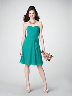Alfred Angelo... chiffon style 7176 in jade $155
