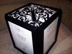 DIY Wedding Card Box Instructions | Step 2 - Attach the cardboard to the foam board using either the ...