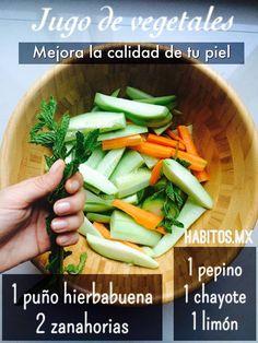 Jugo de Vegetales -Mejora la calidad de tu piel-