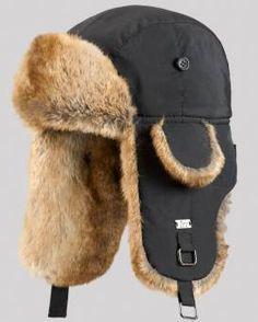 f670e98ca69 Black B-52 Aviator Hat with Faux Fur Fur Hat World