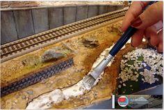 Maqueta española. HO - HOm. Épc. IV - VI. Ferrocarriles de la Península Ibérica.: Diorama expositor. Escala H0. Parte VI.