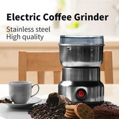 Big Discount Multi-fuctional Bladed Automatic Coffee Grinder Mill Machine Electric Moedor De Cafe Stainless Steel Home Mini Coffee Grinder Manual Coffee Grinder, Yogurt Maker, Espresso Maker, Steel House, Family Kitchen, Lame, Le Moulin, Coffee Machine, Drip Coffee Maker
