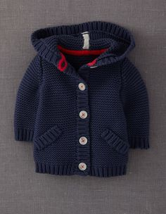 New knitting baby cardigan pattern boys Ideas Baby Knitting Patterns, Baby Boy Knitting, Knitting For Kids, Crochet For Kids, Crochet Baby, Crochet Patterns, Baby Knits, Knitted Baby, Crochet Granny